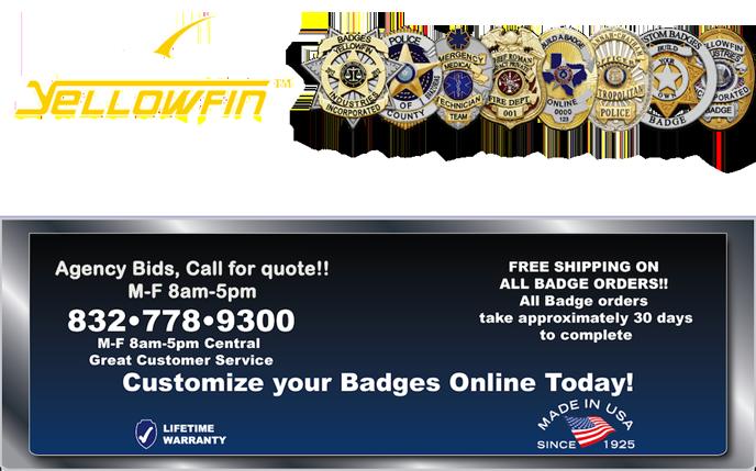 Yellowfin Industries Custom Badges Custom Patches
